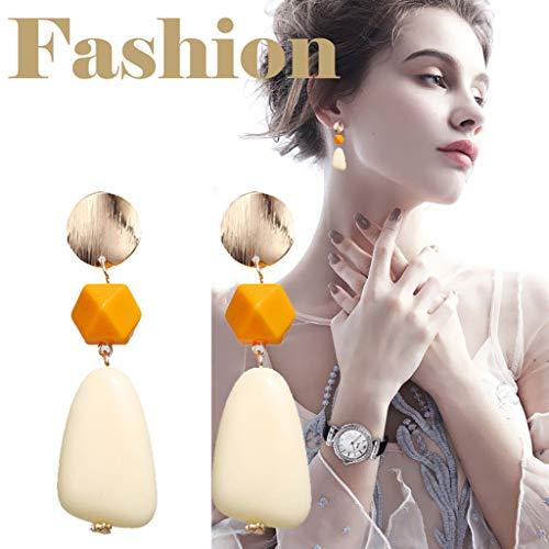 Creative Resin Pearl Alloy Pendant Multicolor Earrings Ladies Jewelry Gift