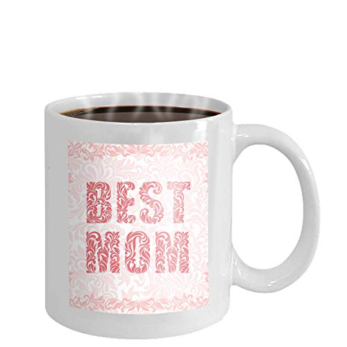 Coffee cup mug best mom ever best mom ever vector mother s day greeting card hand lettering black brush text isolated white background 11oz