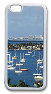 iphone 6 plus 5.5inch Case and Cover Port Of Miami City Full Of Vessels TPU Silicone Rubber Case Cover for iphone 6 plus 5.5inch White