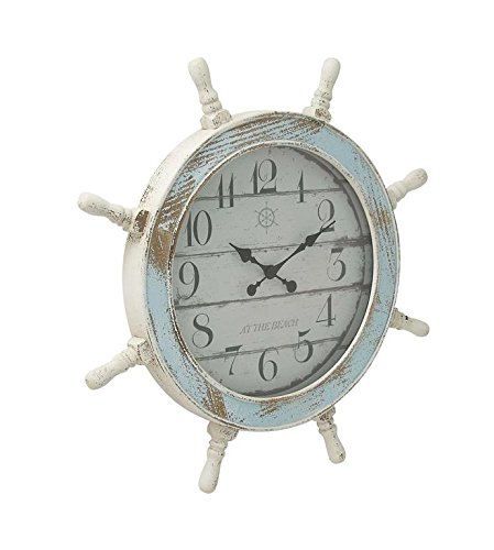 Deco 79 18196 Nautical Wood Anchor Wall (Anchor Clock)