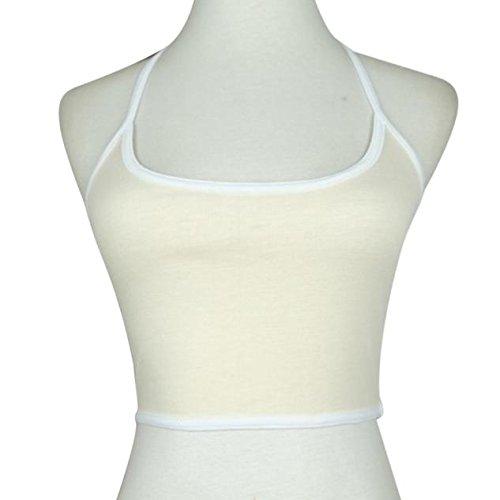Women's Vest, Neartime Women Boho Tank Cami Bustier Bra Crop Top Bralette Blouse (m, Beige)