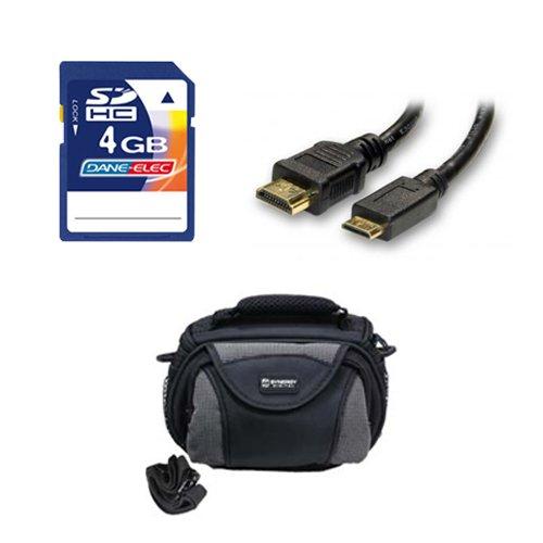 Panasonic HC-V750K Camcorder Accessory Kit includes: KSD4GB Memory Card, SDC-26 Case, HDMI6FM AV & HDMI Cable by Synergy Digital