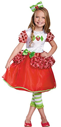 UHC Girl's Deluxe Strawberry Shortcake Outfit Toddler Child Halloween Costume, Toddler M (3T-4T) (Strawberry Shortcake Outfits For Toddlers)