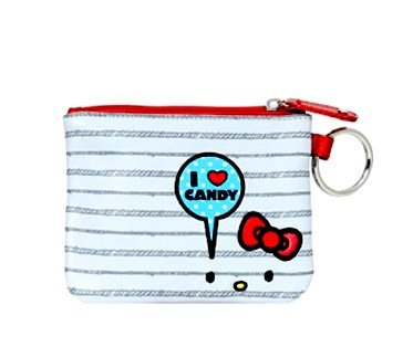 Sanrio Hello Kitty Coin Purse - Kitty Small Cosmetic Bag (I Love Candy)