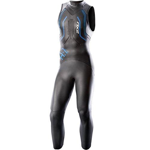 2XU Men's A:1 Active Sleeveless Wetsuit, XX-Large, Black/Cobalt Blue by 2XU