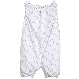 Feather Baby Girls Clothes Pima Cotton Sleeveless One-Piece Sunsuit Shortie Baby Romper