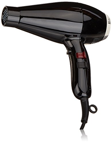Elchim Milano Ceramic Hair Dryer: Slim & Lightweight Salon Professional Blow Dryer - 2000 Watt, Black/Silver by Elchim