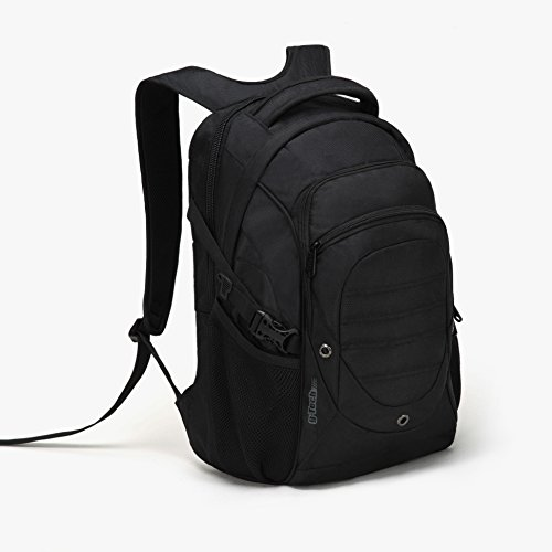 G-Tech GTB-9243 Large Capacity Super Load 4 Spaces Business Travel Laptop Computer Backpack (Black) ()