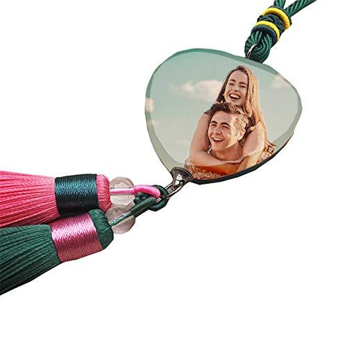linl Custom Photo DIY Accessories Car Charm Rear View Mirror Car Ornament Gift for Her/Him ()