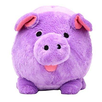 Jumbo Purple Plush Piggy Bank