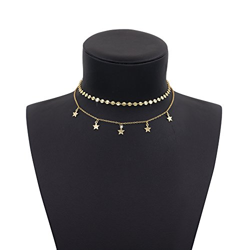 Boosic Double Tassel Choker Necklace