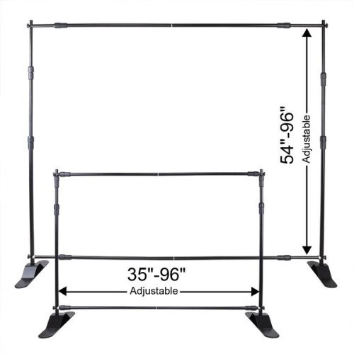 CHIMAERA Jumbo 8 Foot Adjustable and Telescopic Banner / Backrop / Sign Stand