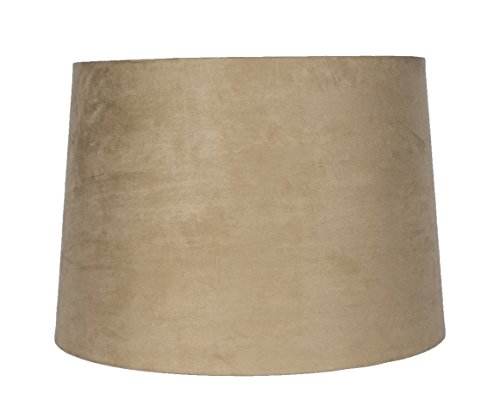 Urbanest Tan Suede Drum Lampshade, 14x16x11