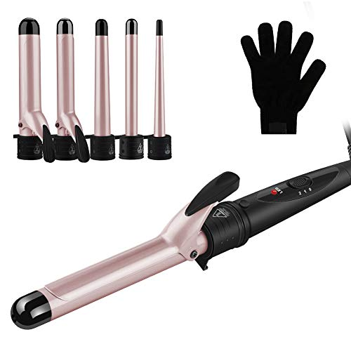 Curling Tongs, GEEDIAR 5 In 1 Multifunction Curling Iron Set Hair Curler...