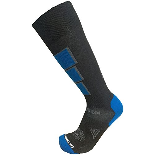 Ultimate Socks Mens Thermolite Ski Snowboard Warm Socks Blue Large 9-11.5