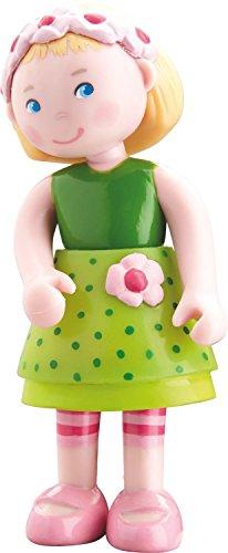 "HABA Little Friends Mali - 4"" Bendy Girl Doll Figure with Bl"
