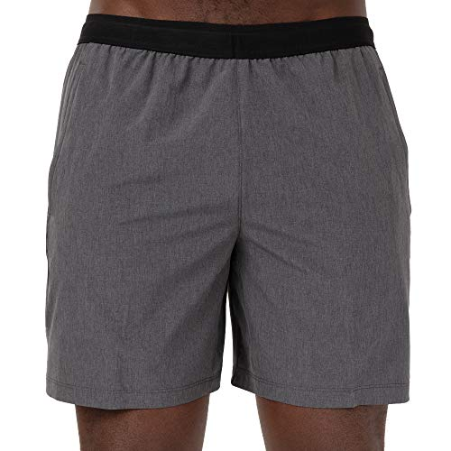 Skora Men's Two in One and Unlined Athletic Running Shorts with Pockets and Zip Back Pocket (Small, Midnight Unlined 7 Inch)