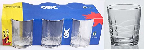 Cok 115-410840 C6 Tivoli Water Glass, 27 CL, Transparent