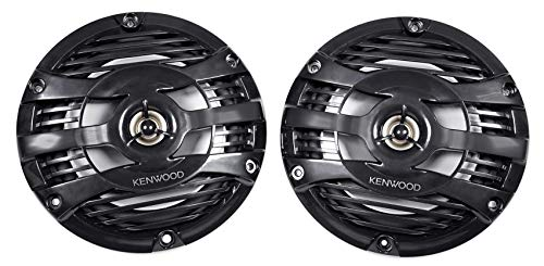 Kenwood KFC-1653MRB 6.5' Black Marine 2 Way Speakers 150 Watts