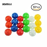 Kofull 40mm Mixed Color Plastic Airflow Golf Practice Ball, Pack of 50pcs Hollow Sports Training Balls Good for your pets