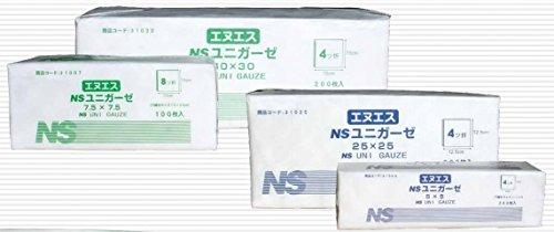 NSユニガーゼ 7.5 × 7.5 Yカット 8ッ折 15㎝ × 30㎝ 100枚 × 40包 (日昭産業) B0753BWVYV