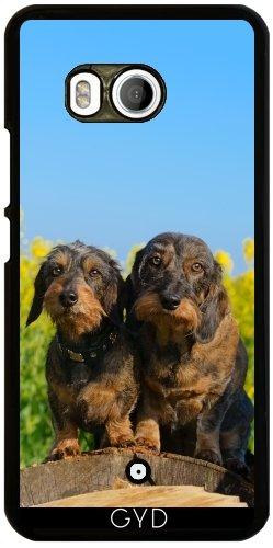 Funda para Htc U11 - Dos Perros Lindos Dachshund DACKEL by Katho Menden