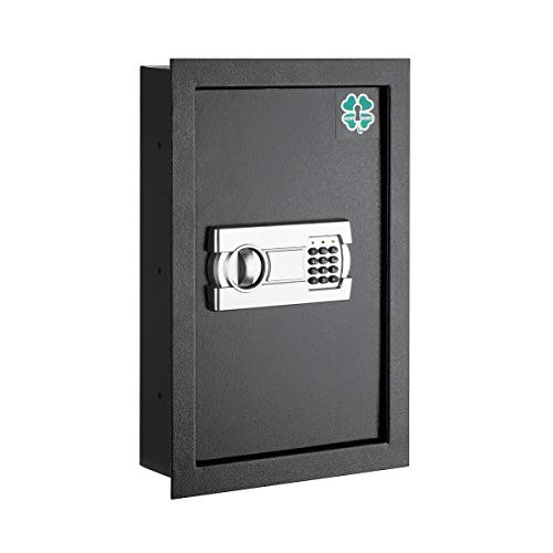 Lucky Guard 83-DT5357 Electronic Economy Wall Hidden Large Safes Jewelry Secure Dark, Black