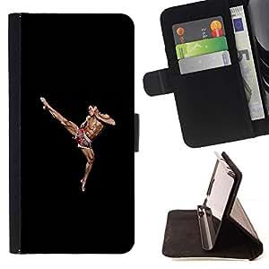 Momo Phone Case / Flip Funda de Cuero Case Cover - Muscles Man Fighting Martial - Sony Xperia M2