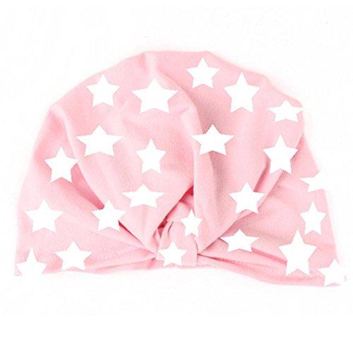 Botrong Cotton Blend Baby Toddler Kids Boy Girl Lovely Print Soft Hat (Pink) (Yarn Bunny Print)