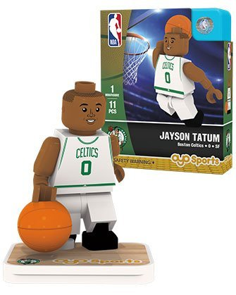 OYO NBA Boston Celtics Jayson Tatum Association Home Uniform Minifigure, Small, No Color