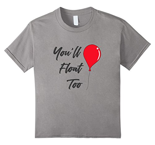 Kids Red Balloon You ll Float Too Halloween 2017 Horror T Shirt 10 Slate