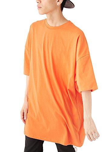掃くこどもセンター調停する(ベストマート) BestMart コットン スーパー ビッグ シルエット 無地 半袖 Tシャツ メンズ ビッグTシャツ ロング丈 ワイド 623888