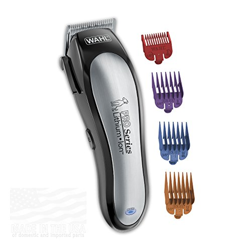 WAHL Lithium Ion Pro Series Cordless Dog Clippers, Rechargeable Low Noise/Quiet Dog Grooming Kits Hair Cut Small/Large Dogs, Thick Coats, Cats The Brand Used Professionals. #9766