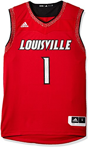 (NCAA Louisville Cardinals Mens Iced Out Replica Basketball Jerseyiced Out Replica Basketball Jersey, Power Red, Large)