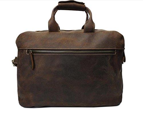 da vintage uomo brown SHOUTIBAO quotidiane computer brown a borsa tracolla Borsa pelle necessità borsa viaggi in tracolla borsa a valigetta per casual shopping 7qrP1qwAY