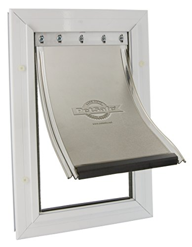(Staywell) Aluminium Heavy Duty Pet Door (Large) (White) (640EFS) by PetSafe