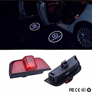 Ricoy 2x Mercedes-Benz ML E A B GL W212 W166 W176 W205 E Class LED Door Step Laser Courtesy Projector Ghost Shadow Light(Pack of 2)