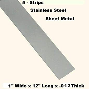 Amazon Com Stainless Steel Sheet Metal 5 Strips 1 Wide X 12 Long X 012 Thick Industrial Scientific