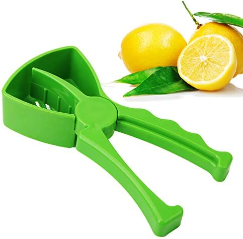 Exprimidor manual de plástico ABS de grado alimenticio, resistente y eficiente para la recogida de zumos frescos de naranjas, limones.