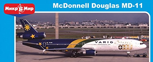 (PLASTIC MODEL BUILDING AIRPLANE MCDONNELL DOUGLAS MD-11 VARIG BRASIL. LIMITED EDITION 1/144 MICRO-MIR 144-017)