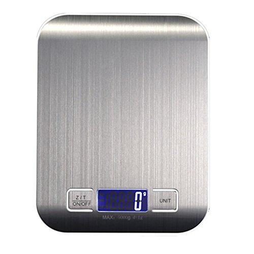 YHBH Básculas de Cocina caseras precisas Básculas de Alimentos Básculas electrónicas Pesa hasta 5 kg, Básculas de pesaje para Hornear 10 kg Básculas de ...