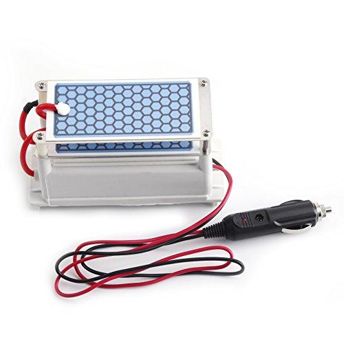 🥇 DC 12V 10g/h Generador de Ozono Purificador de Aire Placas de Cerámica de Ozono para Coches
