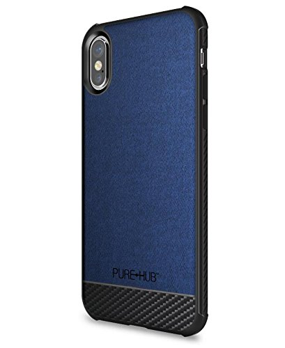 Se Pure Carbon - Pure-Hub Professional Protocol iPhone X Case - Crimson Blue