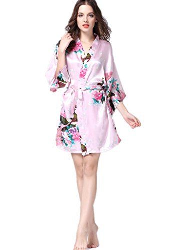 YUAKOU Peacock Blossoms Nightwear Bathrobes product image