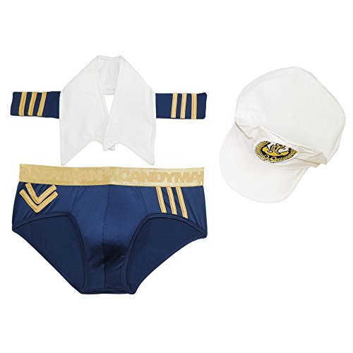 CandyMan 99108 Sailor Costume Outfit Color Only Color Size XL (Sexy Men Outfits)