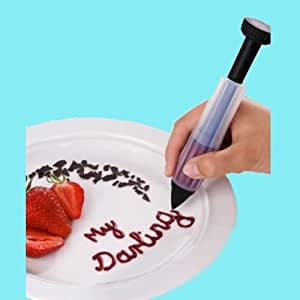 Cake Biscuit Cookie Pastry Icing Decoration Syringe Chocolate Plate Pen Tool New 250180