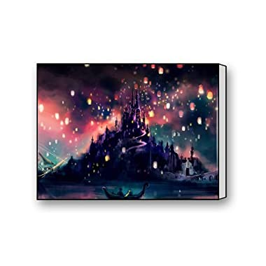 Disney Rapunzel Tangled Lanterns Canvas Print 16  x 12