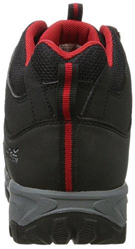Regatta Gatlin Mid, Zapatos de High Rise Senderismo para Hombre Gris (Black/Pepper 9Dr)