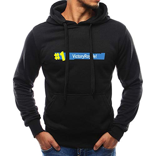 iLXHD Athletic Hoodies Jumper Pullover Pocket Letter Print Sweatshirts Lover(Black 2,M)