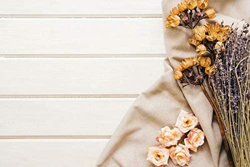 Planks and Dried Flowers Wedding Baby Photography Background Custom Photography Studio Photography Background
